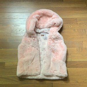 Baby pink fur vest